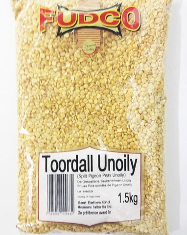 Fudco Toor Dall Unoily 1.5 KG - Sabadda - Indian Online Grocery Store in UK