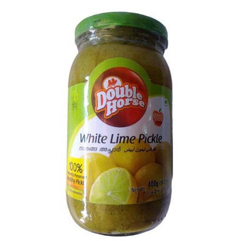 Double Horse White Lime Pickle 400 gm - Sabadda - Indian Online Grocery Store in UK