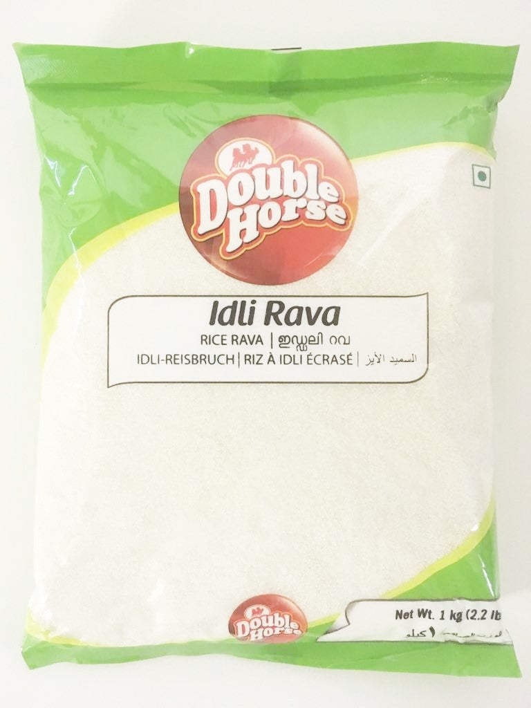 Double Horse Idli Rava Rice Rava 1 kg - Sabadda - Indian Online Grocery Store in UK