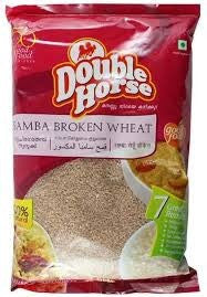 Double Horse Samba Broken Wheat 1 KG - Sabadda - Indian Online Grocery Store in UK