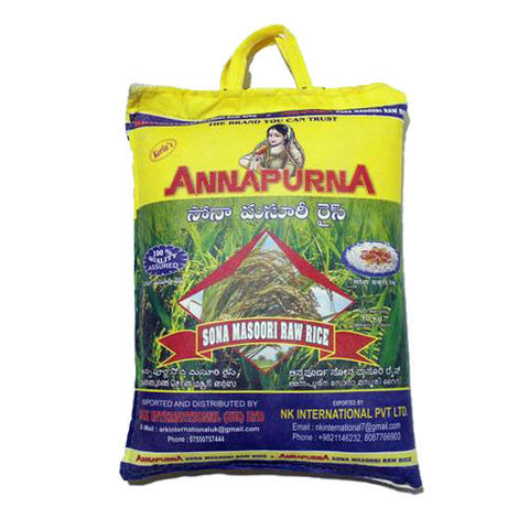Annapurna Sona Masoori Raw Rice 10 kg - Sabadda - Indian Online Grocery Store in UK