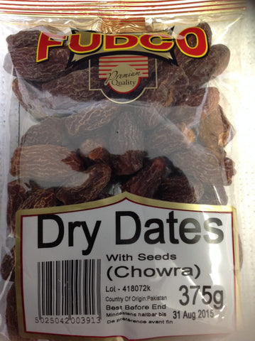 Fudco Dry Dates With Seeds 375 gm - Sabadda - Indian Online Grocery Store in UK