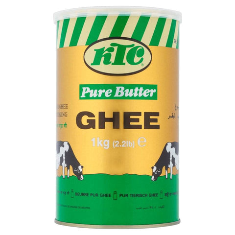 KTC Pure Butter Ghee (Tin) 1 kg - Sabadda - Indian Online Grocery Store in UK