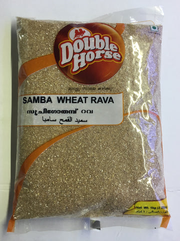 Double Horse Samba Wheat Rava 1 KG - Sabadda - Indian Online Grocery Store in UK