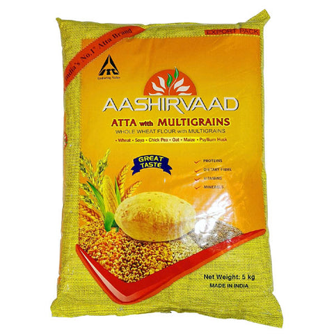 Aashirvaad Atta with Multigrains 5 kg - Sabadda - Indian Online Grocery Store in UK