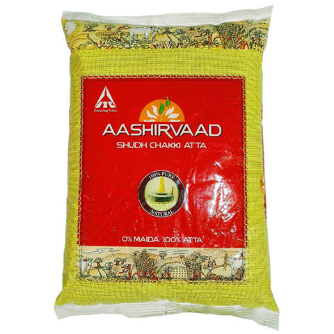 Aashirvaad Shudh Chakki Atta 2 kg - Sabadda - Indian Online Grocery Store in UK