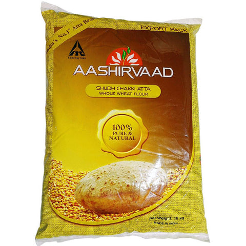 Aashirvaad Shudh Chakki Atta (Whole Wheat Flour) 10 kg - Sabadda - Indian Online Grocery Store in UK
