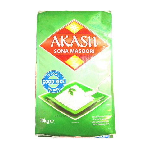 Akash Sona Masoori Rice 10 kg - Sabadda - Indian Online Grocery Store in UK