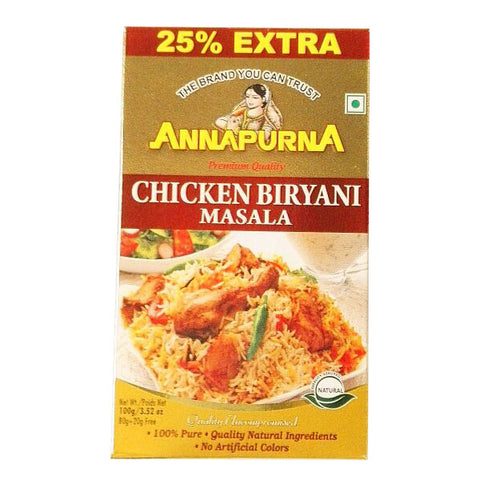 Annapurna Chicken Biryani Masala 100 gm - Sabadda - Indian Online Grocery Store in UK