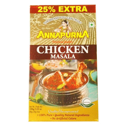 Annapurna Chicken Masala 100 gm - Sabadda - Indian Online Grocery Store in UK