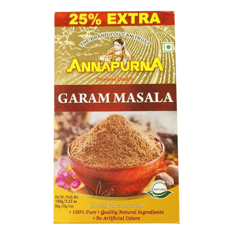 Annapurna Garam Masala 100 gm - Sabadda - Indian Online Grocery Store in UK