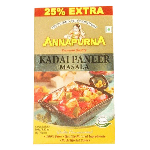 Annapurna Kadai Paneer Masala 100 gm - Sabadda - Indian Online Grocery Store in UK