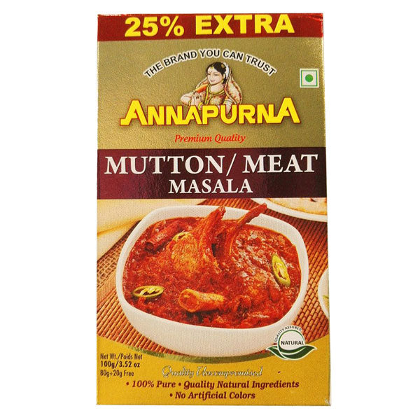 Annapurna Mutton / Meat Masala 100 gm - Sabadda - Indian Online Grocery Store in UK