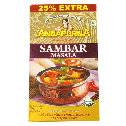 Annapurna Sambar Masala 100 gm - Sabadda - Indian Online Grocery Store in UK