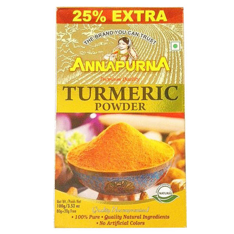 Annapurna Turmeric Powder 100 gm - Sabadda - Indian Online Grocery Store in UK