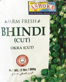 Ashoka Farm Fresh Bhindi Okra Cut 908 gm - Sabadda - Indian Online Grocery Store in UK