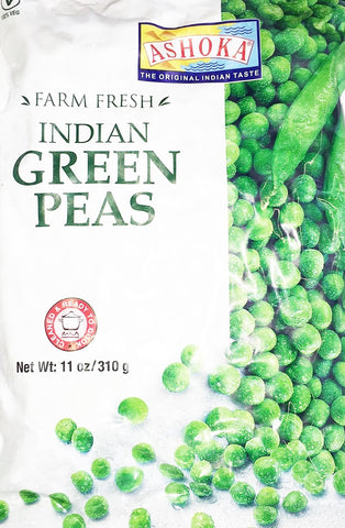 Ashoka Farm Fresh Indian Green Peas 310 gm - Sabadda - Indian Online Grocery Store in UK