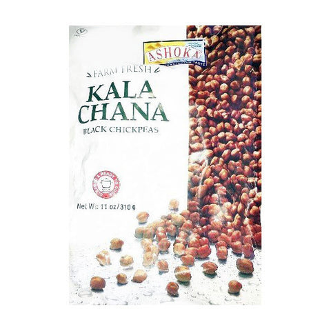 Ashoka Farm Fresh Kala Chana Black Chickpeas 310 gm - Sabadda - Indian Online Grocery Store in UK
