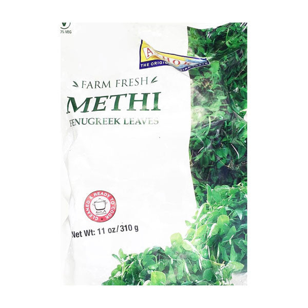 Ashoka Farm Fresh Methi Fenugreek Leaves 310 gm - Sabadda - Indian Online Grocery Store in UK