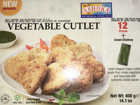 Ashoka Vegetable Cutlet 12 Pieces 400 gm - Sabadda - Indian Online Grocery Store in UK