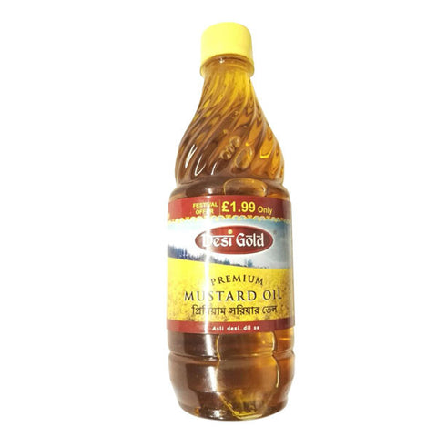 Desi Gold Premium Mustard Oil 475 ml - Sabadda - Indian Online Grocery Store in UK