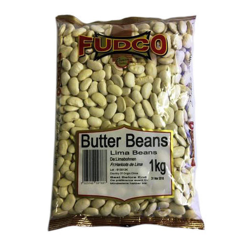 Fudco Butter Beans Lima Beans 1 kg - Sabadda - Indian Online Grocery Store in UK