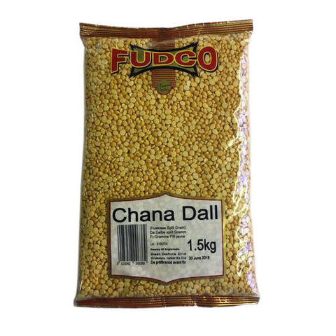 Fudco Chana Dall ( Huskless Split Gram ) 1.5 kg - Sabadda - Indian Online Grocery Store in UK