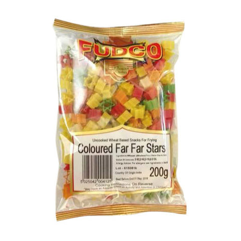 Fudco Coloured Far Far Stars 200 gm - Sabadda - Indian Online Grocery Store in UK