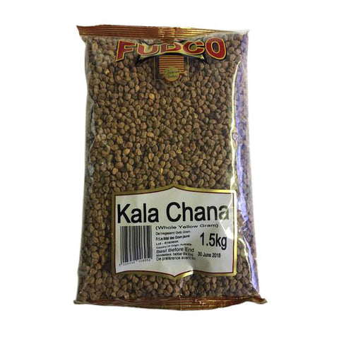Fudco Kala Chana (Whole Yellow Gram) 1.5 kg - Sabadda - Indian Online Grocery Store in UK