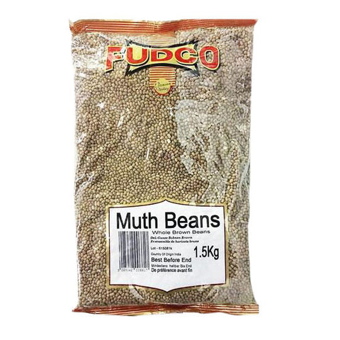 Fudco Muth Beans Whole Brown Beans 1.5 kg - Sabadda - Indian Online Grocery Store in UK