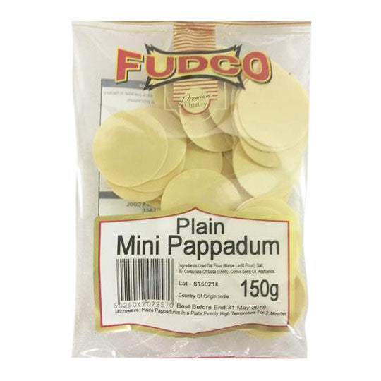 Fudco Plain Mini Pappadum 150 gm - Sabadda - Indian Online Grocery Store in UK