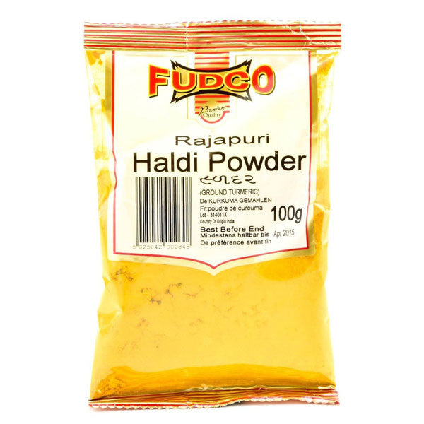 Fudco Rajapuri Haldi Powder 100 gm - Sabadda - Indian Online Grocery Store in UK