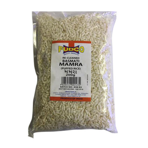 Fudco Re-Cleaned Basmati Mamra (Puffed Rice) 200 gm - Sabadda - Indian Online Grocery Store in UK
