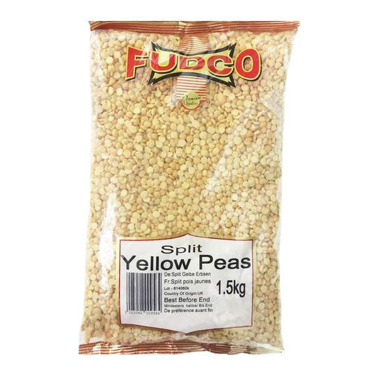 Fudco Split Yellow Peas 1.5 kg - Sabadda - Indian Online Grocery Store in UK