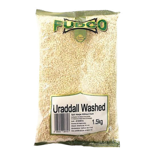 Fudco Urad Dall Washed 1.5 kg - Sabadda - Indian Online Grocery Store in UK