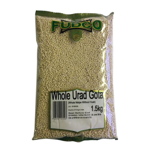 Fudco Whole Urad Gota 1.5 kg - Sabadda - Indian Online Grocery Store in UK