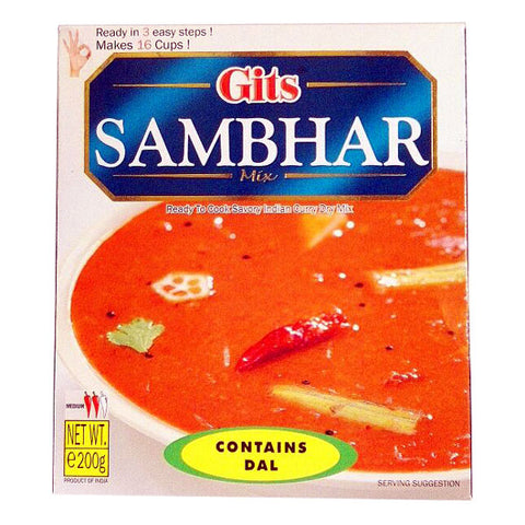 Gits Sambhar Mix (Contains Dal) 200 gm - Sabadda - Indian Online Grocery Store in UK