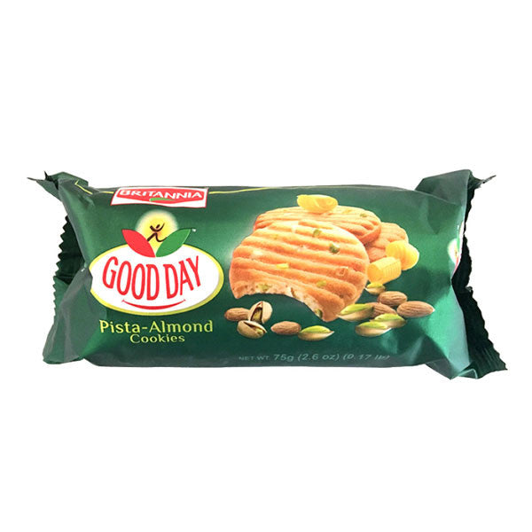 Good Day Pista-Almond Cookies 72 gm - Sabadda - Indian Online Grocery Store in UK