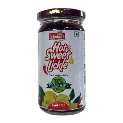 Grandma's Hot & Sweet Lickle (Lime) 300 gm - Sabadda - Indian Online Grocery Store in UK