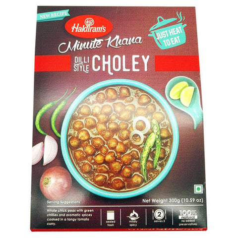 Haldiram's Minute Khana Dilli Style Choley 300 gm - Sabadda - Indian Online Grocery Store in UK