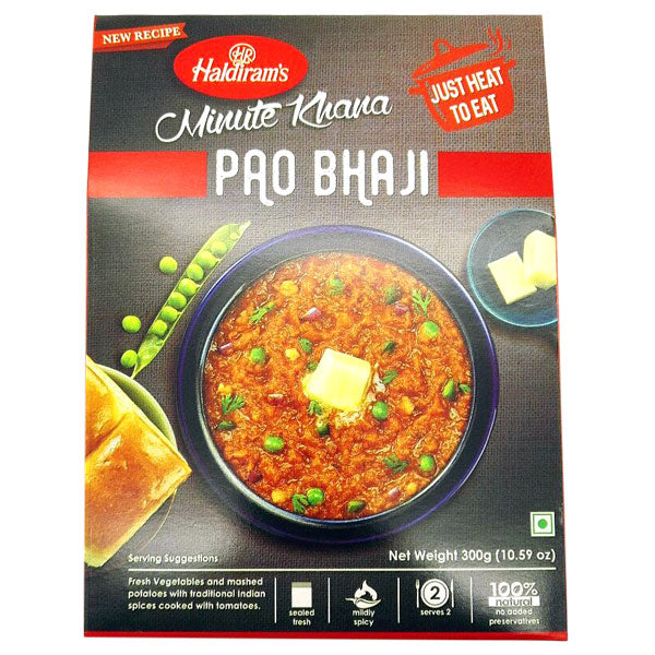 Haldiram's Minute Khana Pao Bhaji 300 gm - Sabadda - Indian Online Grocery Store in UK