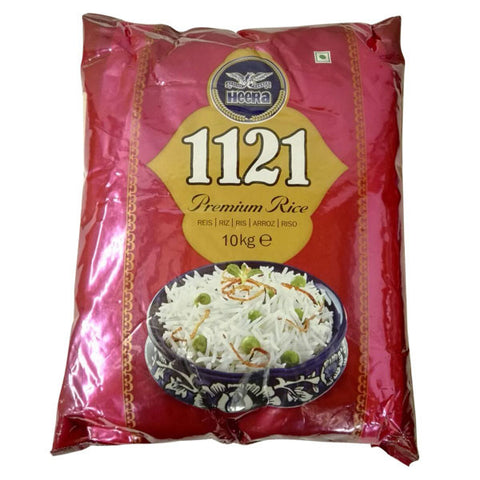 Heera 1121 Basmati Rice 10 kg - Sabadda - Indian Online Grocery Store in UK