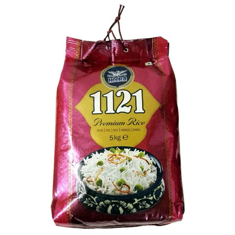 Heera 1121 Basmati Rice 5 kg - Sabadda - Indian Online Grocery Store in UK