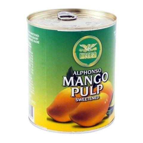 Heera Alphonso Mango Pulp Sweetened 450 gm - Sabadda - Indian Online Grocery Store in UK