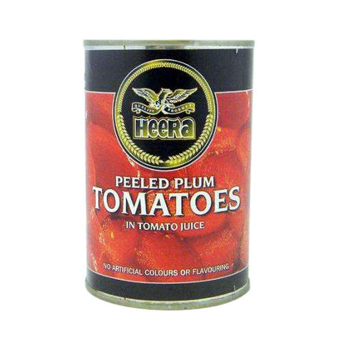 Heera Peeled Plum Tomatoes in Tomato Juice 400 gm - Sabadda - Indian Online Grocery Store in UK