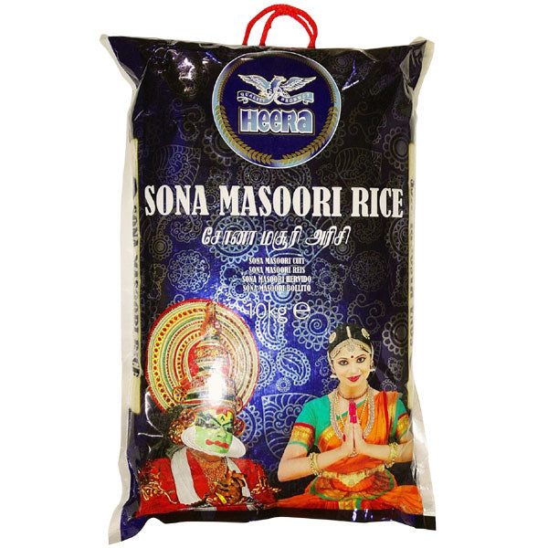 Heera Sona Masoori Rice 10 kg - Sabadda - Indian Online Grocery Store in UK