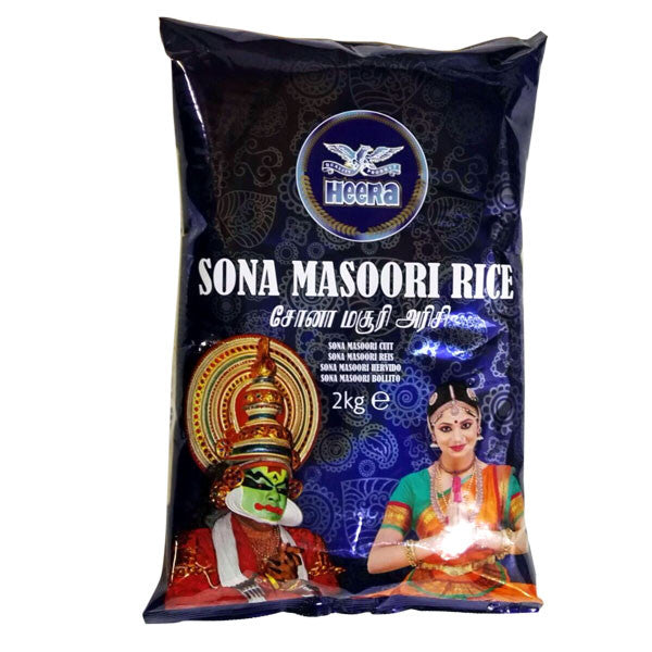 Heera Sona Masoori Rice 2 kg - Sabadda - Indian Online Grocery Store in UK