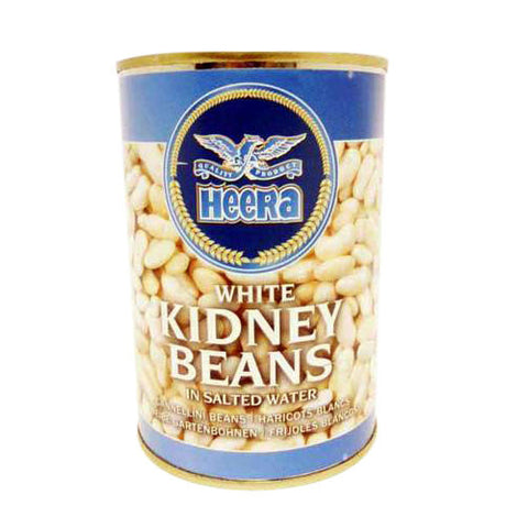 Heera White Kidney Beans in Salted Water 400 gm - Sabadda - Indian Online Grocery Store in UK