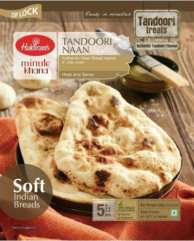 Haldiram's Tandoori Naan 400 gm - Sabadda - Indian Online Grocery Store in UK