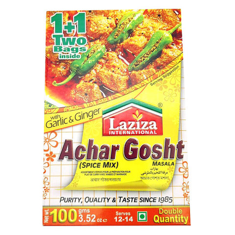 Laziza Achar Gosht Masala 100 gm - Sabadda - Indian Online Grocery Store in UK